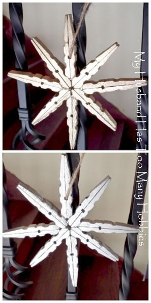 super easy clothespin stars, christmas decorations, crafts                                                                                                                                                                                 More