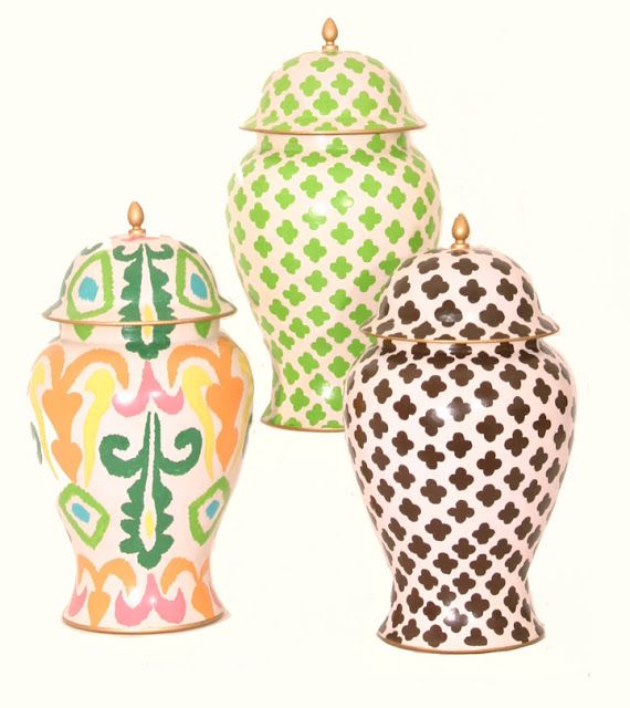 colorful ginger jars: Decor, Vase, Ideas, Interior, Color, Ginger Jars, Chinoiserie Chic, Products