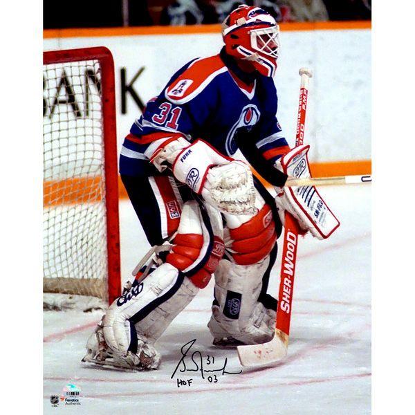 """Grant Fuhr Edmonton Oilers Fanatics Authentic Autographed 16"""" x 20"""" Blue Vertical Photograph with HOF Inscription - $44.99"""