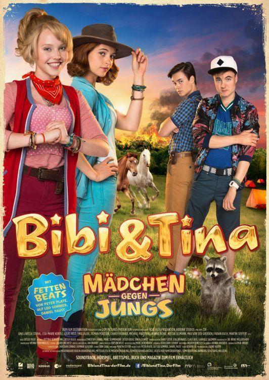 Bibi & Tina: Mädchen gegen Jungs aus dem Jahr 2016 ist ein Film von  Detlev Buck und mit den Filmstars  Lina Larissa Strahl  Lisa-Marie Koroll . Jetzt online schauen, Film und Filmstars bewerten, teilen und Spass haben auf filme.io