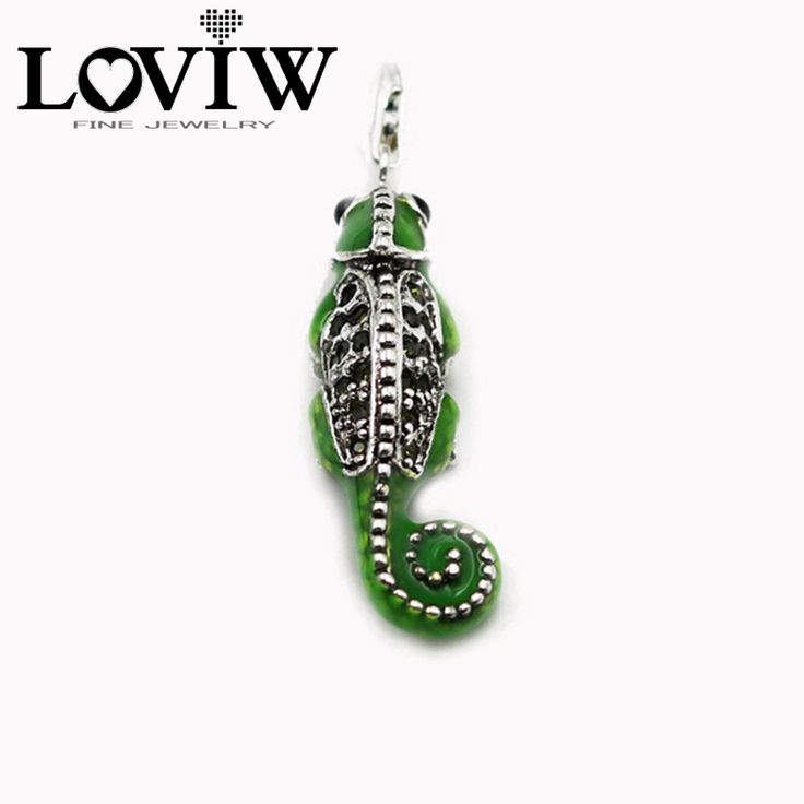 Large Lizards Classic Pendant,European Style Cool Good Jewelry For Women DIY Gift 925 Sterling Silver