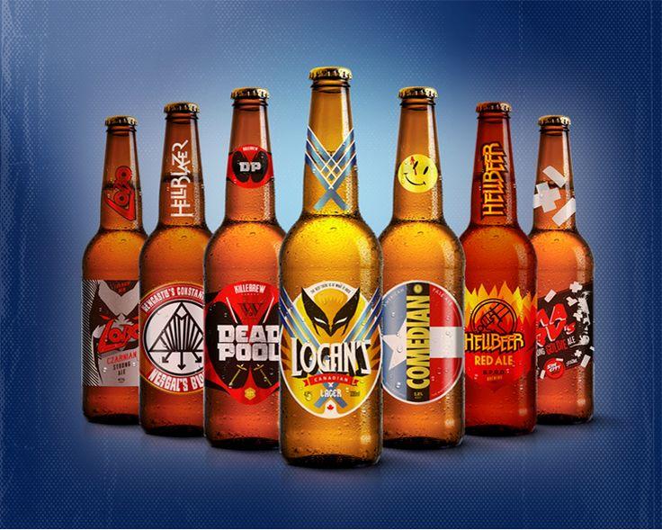 Gli eroi dei fumetti come compagni di bevute, con le bottiglie di Butcher Billy