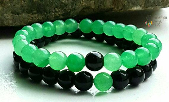 Check out this item in my Etsy shop https://www.etsy.com/ca/listing/493545838/couples-bracelets-jade-onyx-gemstone