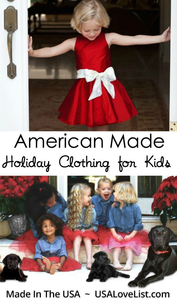 Holiday Clothing for Kids | Made in USA #holidays #madeinUSA #kidsfashion #partydress