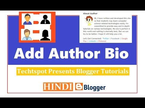 How To Add Author Bio In Blogger - Hindi Urdu
