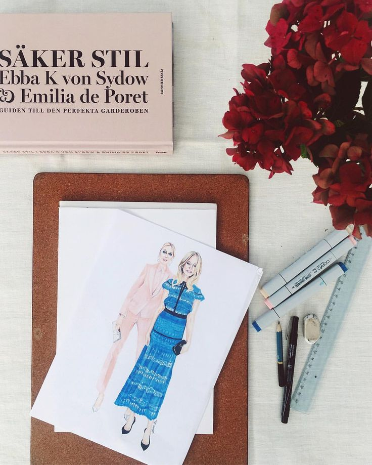 SÄKER STIL  Ebba Von Sydow & Emilia Deporet Fashion Illustration by Johanna Ohlsson