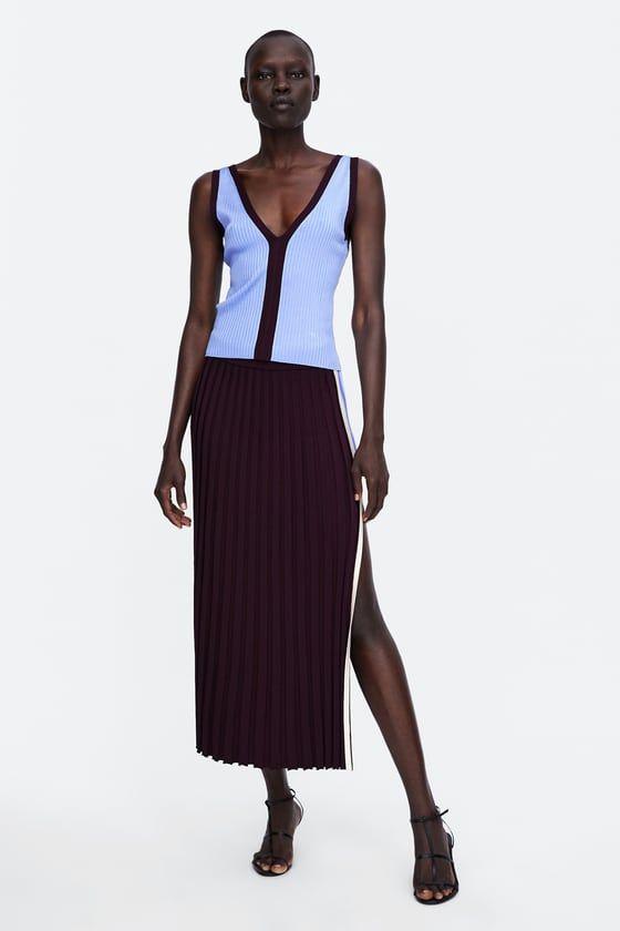 Top Canale Color Block Zara Moda Tallas Grandes Moda Y Inspiracion Moda