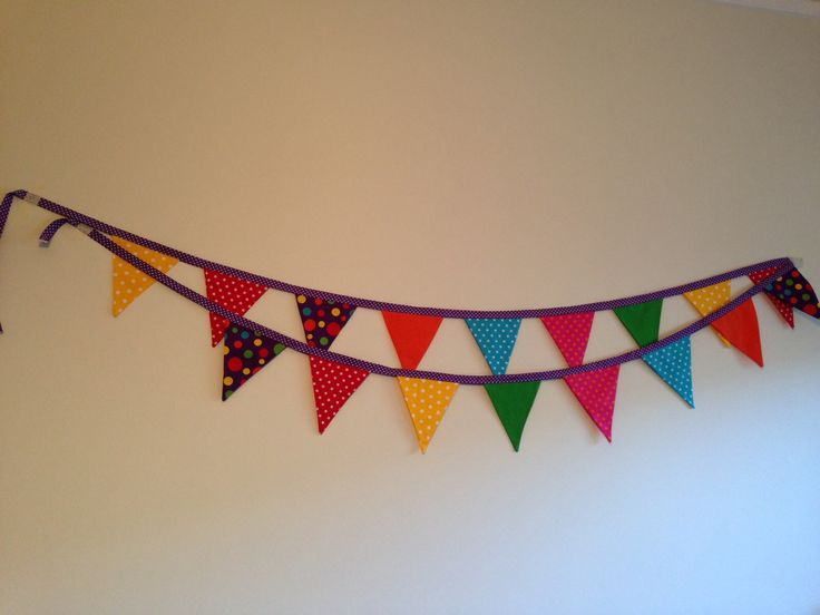 a little bit of bunting...a whole lot of colour!