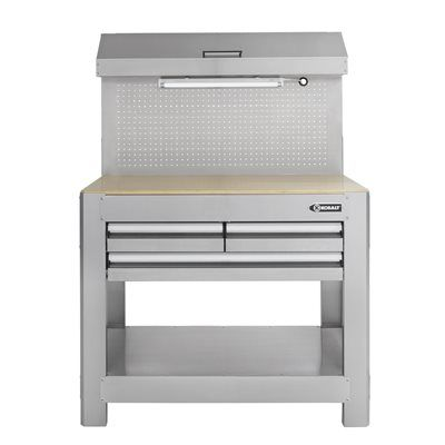 Kobalt Heavy-Duty Stainless Steel 3-Drawer Workbench