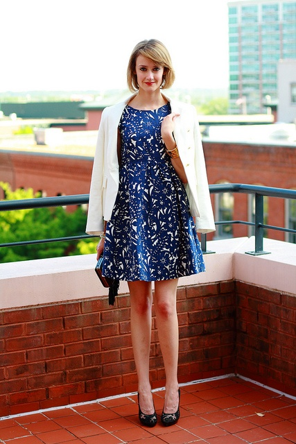District Of Chic! Rightfully so.: Totally Preppy, Fall Style, Blue Dresses, Style Inspiration, Street Style, Aspir Style, Personalized Style, Fashion Inspri, Blue And White
