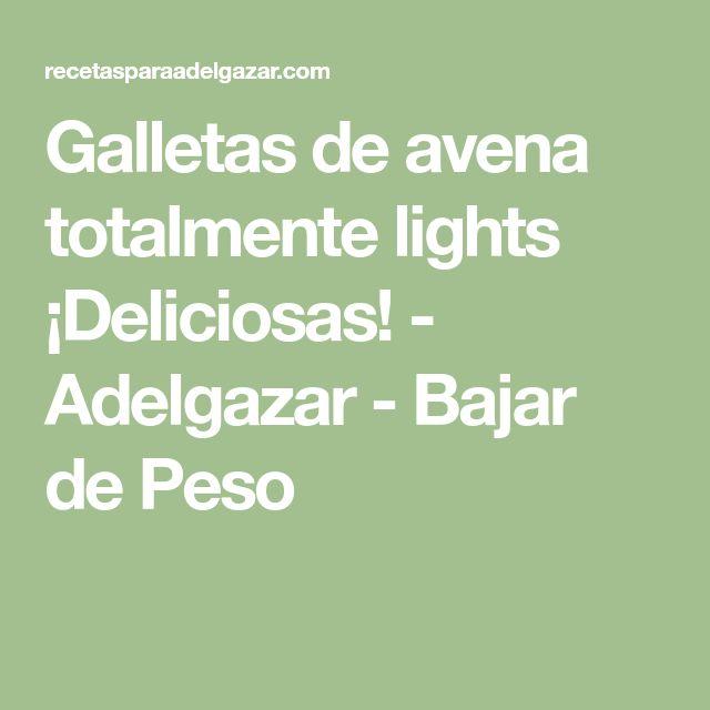 Galletas de avena totalmente lights ¡Deliciosas! - Adelgazar - Bajar de Peso