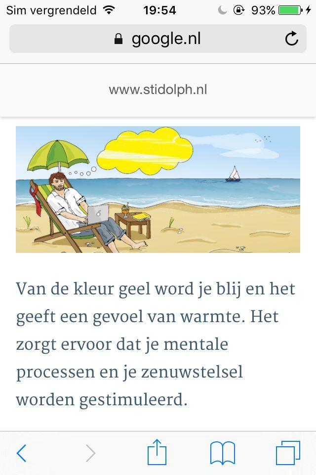 Hier heb ik opgezocht welke kleur bij de emotie blij past, op de website: https://www.google.nl/amp/www.stidolph.nl/het-psychologisch-effect-van-kleuren/amp/?client=safari  De blije emotie past bij de kleur geel. Dit heb ik ook terug laten komen in mijn werk.