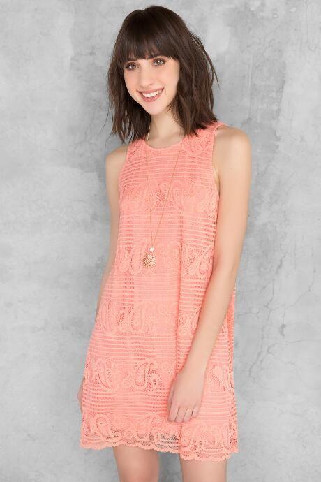 Shayla Lace Shift Dress $19.98                      $44.00