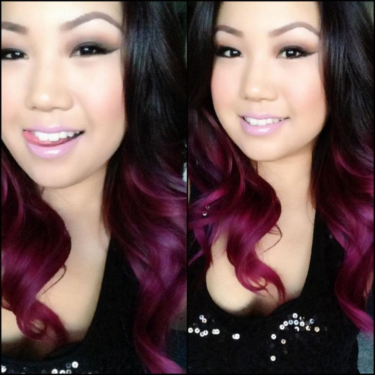 ... and nail ideas ;)   Pinterest   Ombre, Ombre Hair and Plum Color
