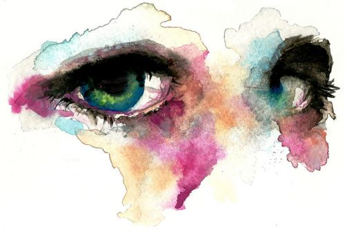 You can see into the soul.  These watercolor eyes are breath taking! #art