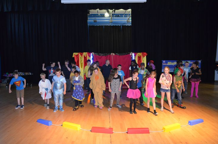 Circus skills show's finale for their families at Cedar Mount Academy, Manchester.  MagicalCircus.co.uk