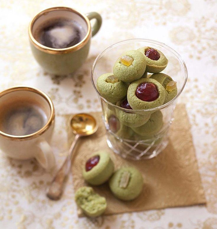 Financiers au thé matcha et fruits confits - Recettes de cuisine Ôdélices