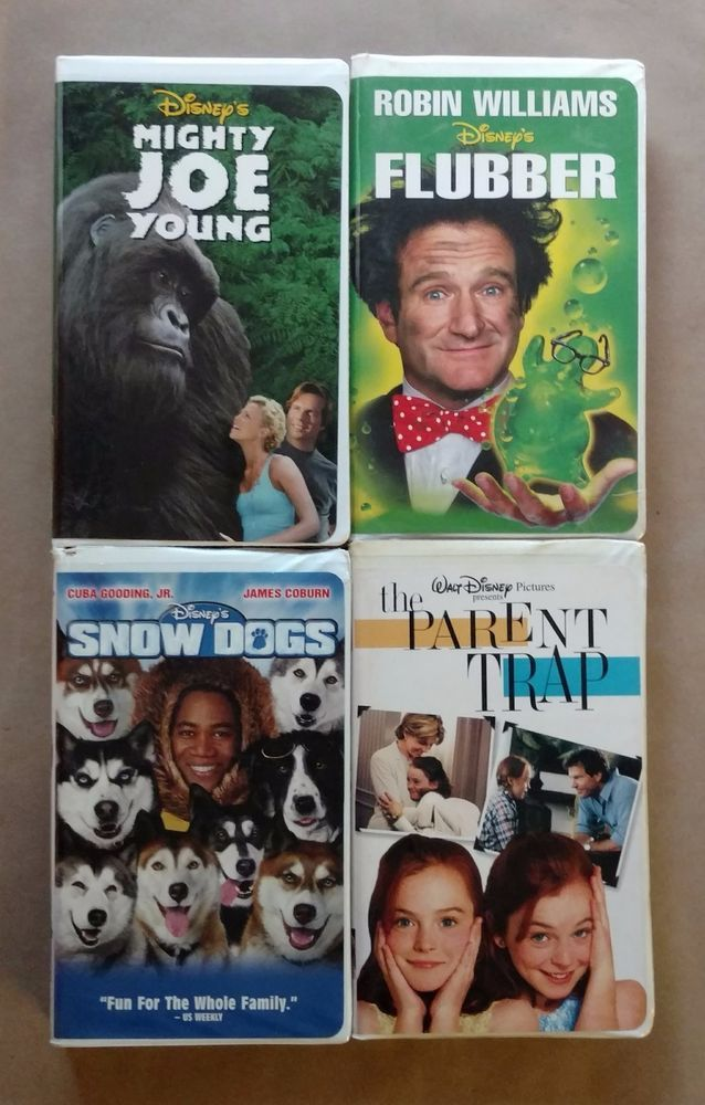 VHS Disney Lot of 4 | Flubber, Snow Dogs, Mighty Joe Young & The Parent Trap