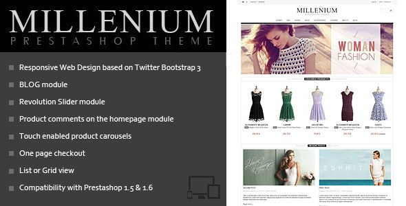 Millenium – Prestashop 1.6 Theme + BLOG Download link:  Millenium – Prestashop 1.6 Theme + BLOG