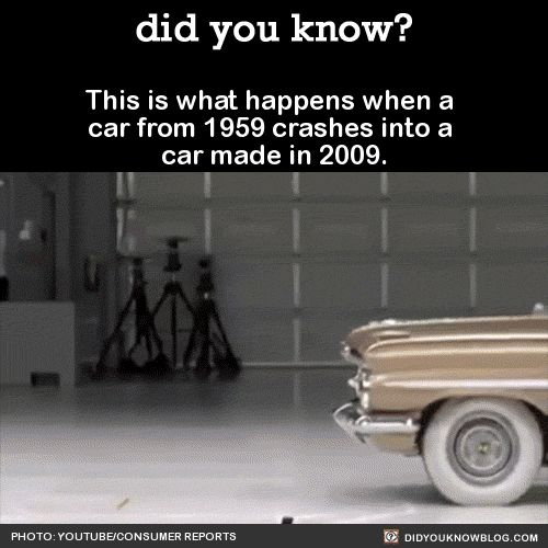 This Is What Happens When A Car From 1959 Crashes Into A