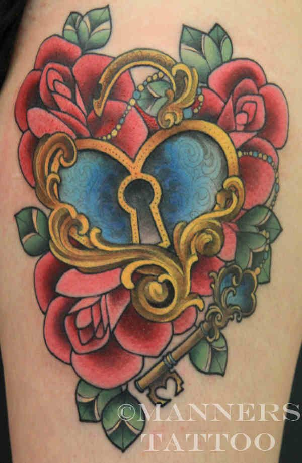 #tattoo ... Love the key to my heart lock ... Can you have too many? Lol