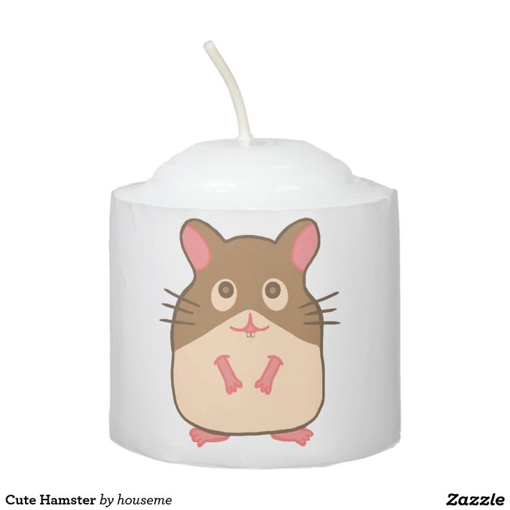Cute Hamster Votive Candle