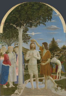Piero della Francesca | The Baptism of Christ | NG665 | The National Gallery, London