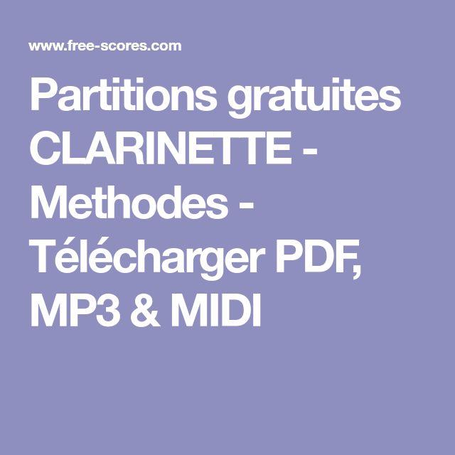 Partitions gratuites  CLARINETTE - Methodes - Télécharger PDF, MP3 & MIDI