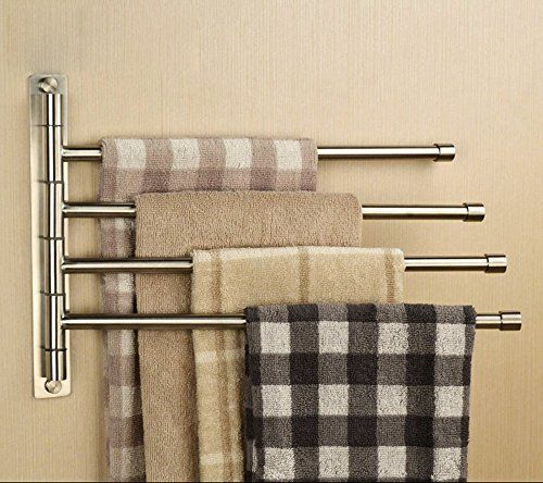 Sumnacon Silver Stainless Steel Wall Mounted Towel Rail