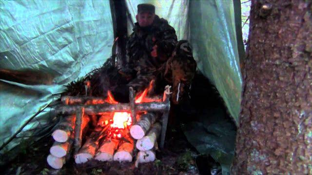 Печка для готовки и обогрева шалаша