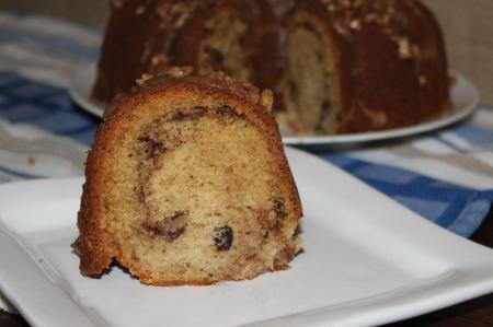 Cinnamon Swirl Bundt with Pecan Brown Butter Glaze Recipe