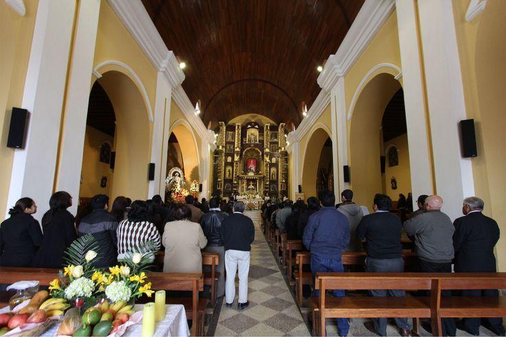 Las actividades del día central iniciaron con la misa celebrada en el parroquia Santísimo Salvador de Pachacámac Cercado.