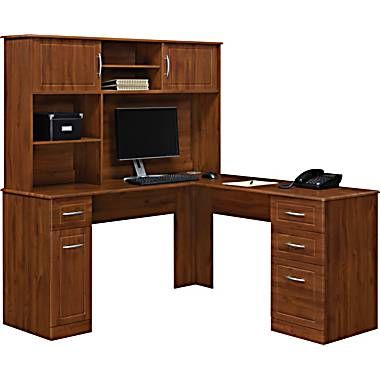 L Shaped Desk Staples Home Office Pinterest Desks