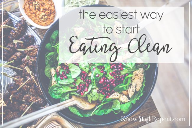 how to start eating clean and healthy