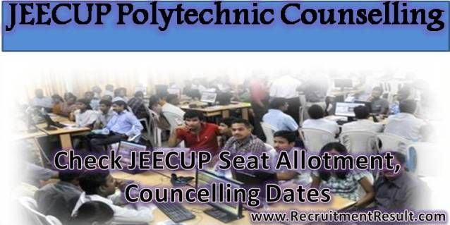 Qualified contenders in the Joint Entrance Examination are informed that council board is going to conduct the JEECUP Polytechnic Counselling on below specified dates.