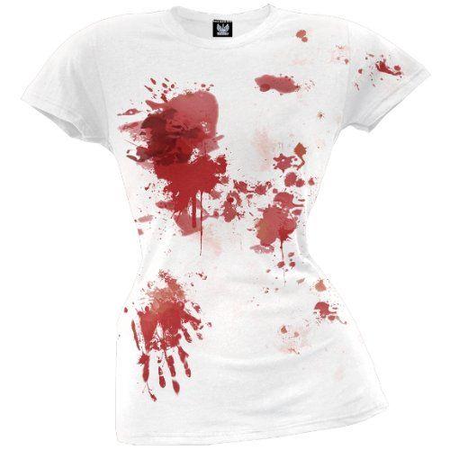 Old Glory Womens Blood Splatter T-Shirt: Amazon.co.uk: Clothing