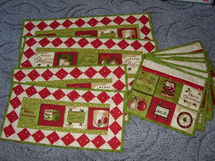 place mat- doily patchwork christmas dečky a prostírání pod talíře