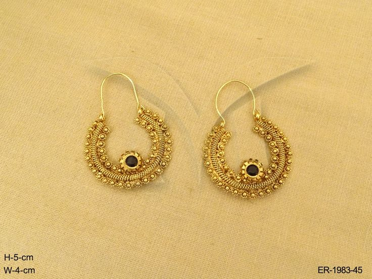 BALI STYLE ROUND POLO CHAND ANTIQUE EARRING