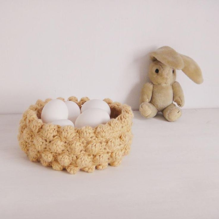 Looking for your next project? You're going to love Easter Basket Nest bubble crochet  by designer bySol. - via @Craftsy