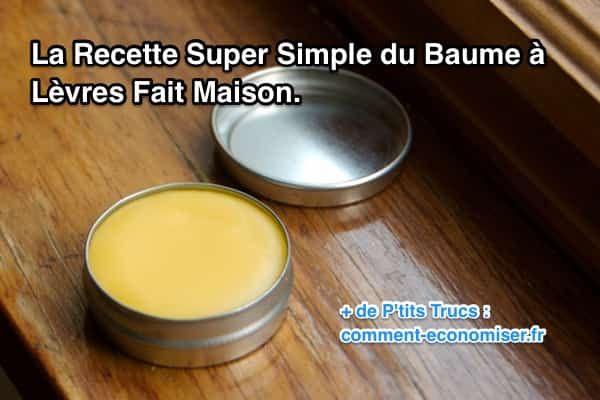 La Recette Ultra Simple du Baume à Lèvres Fait Maison.