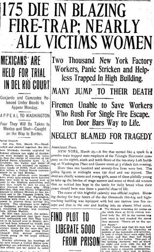 the triangle shirtwaist fire paper It was the deadliest workplace accident in new york city's history.
