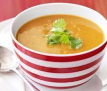 Thai Coconut Sweet Potato and Lentil Soup