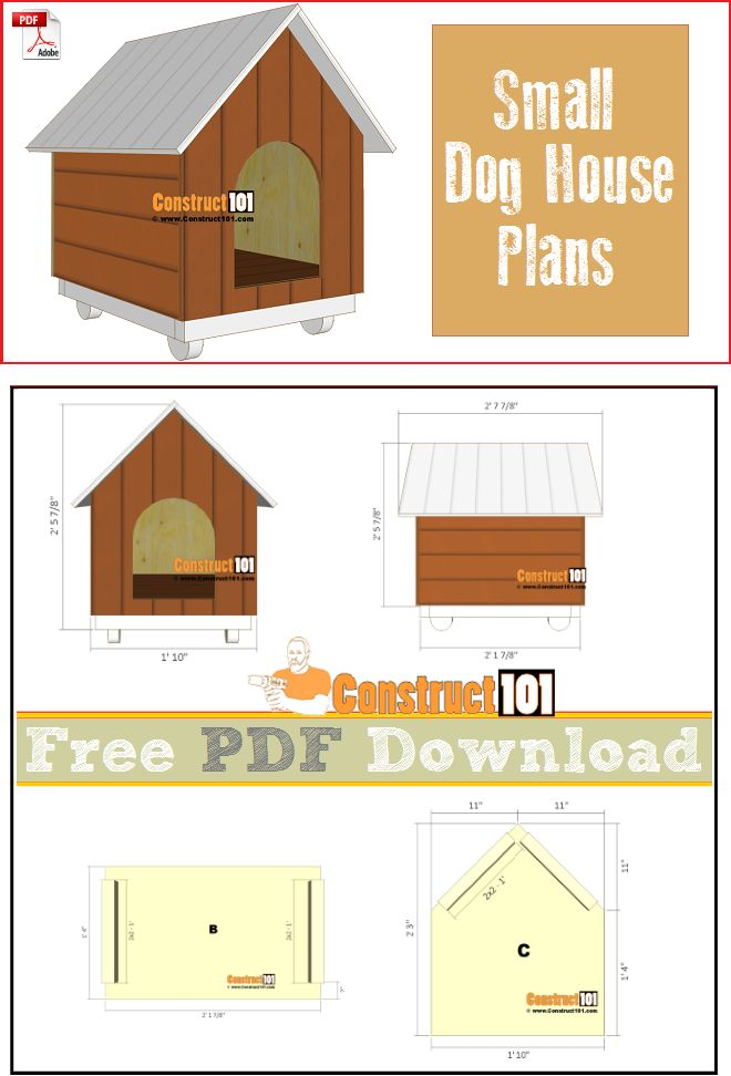 Pin On Construct101 Pdf Plans Plans for a small dog house