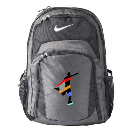 #Soccer Player Nike Backpack - #travel #accessories