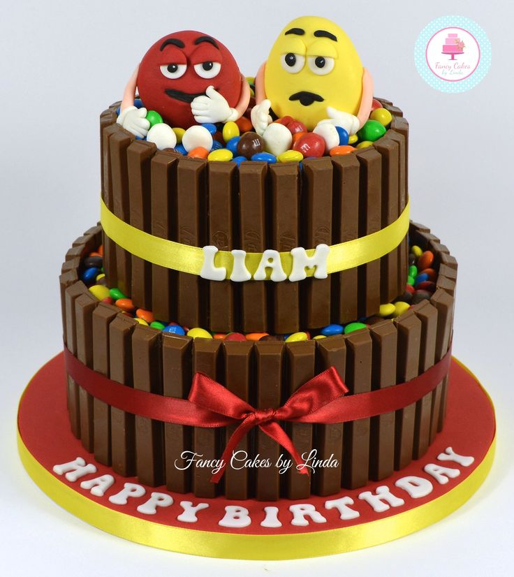 M&M & Kit Kat Birthday Cake 07917815712 Www