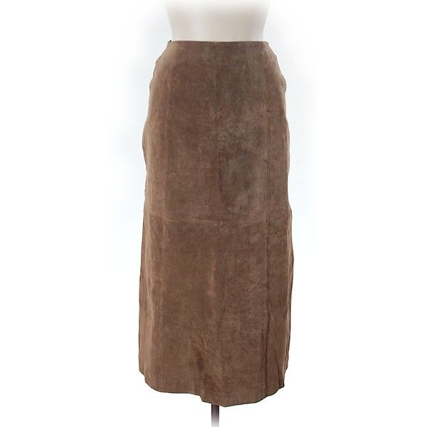Bagatelle Leather Skirt ($38) ❤ liked on Polyvore featuring skirts, tan, knee length leather skirt, leather skirt, brown leather skirt, tan skirt and real leather skirt