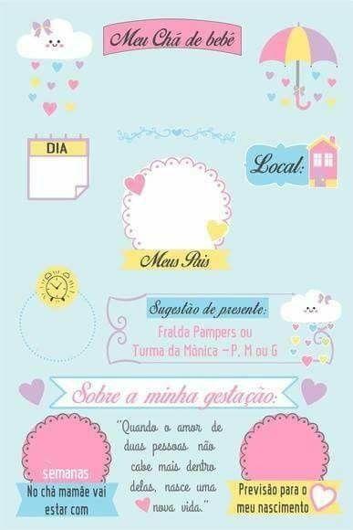 Mlb 938477728 Arte Digital Convite Cha De Bebe Chuva De Amor Nuvem