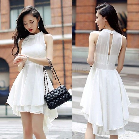 2014 New Fashion High waist Dress sleeveless Lolita Women sexy Cute Chiffon Dresses Peplum Party Dress 31-in Dresses from Women's Clothing & Accessories on Aliexpress.com | Alibaba Group