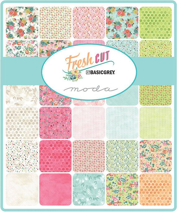 Fat Quarter Bundle Freshcut by Basic Grey for Moda low volume quilt fabric  40 fat quarters 18 x 22 approximately 100% cotton quilt fabric