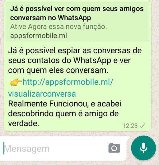 """Golpe do """"WhatsApp espião"""" já infectou mais de 100 mil usuários"""